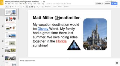 shared slides presentation