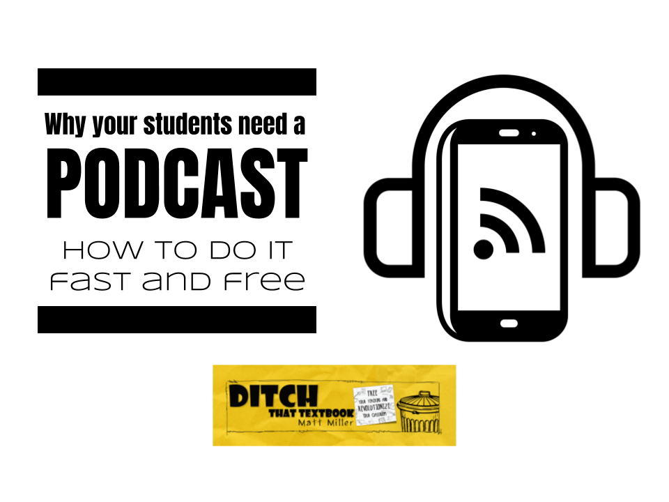 Why your students need a podcast: How to do it fast and free | Ditch