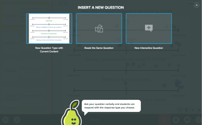 peardeck insert new question