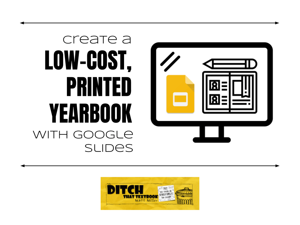 create a low cost printed school yearbook with google slides