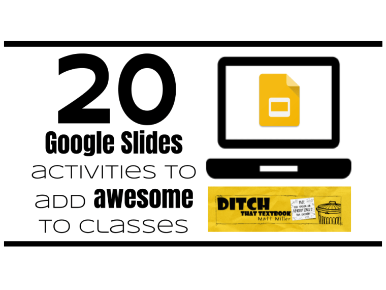 20 google slides activities to add awesome to classes ditch that