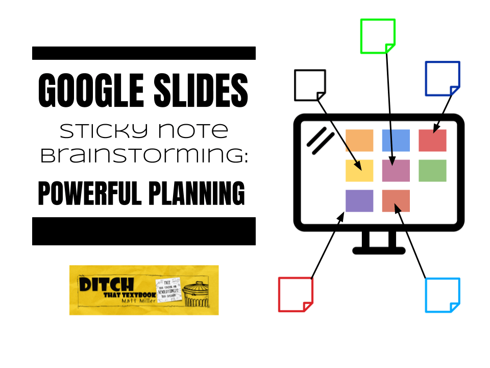 google slides sticky note brainstorming powerful planning ditch