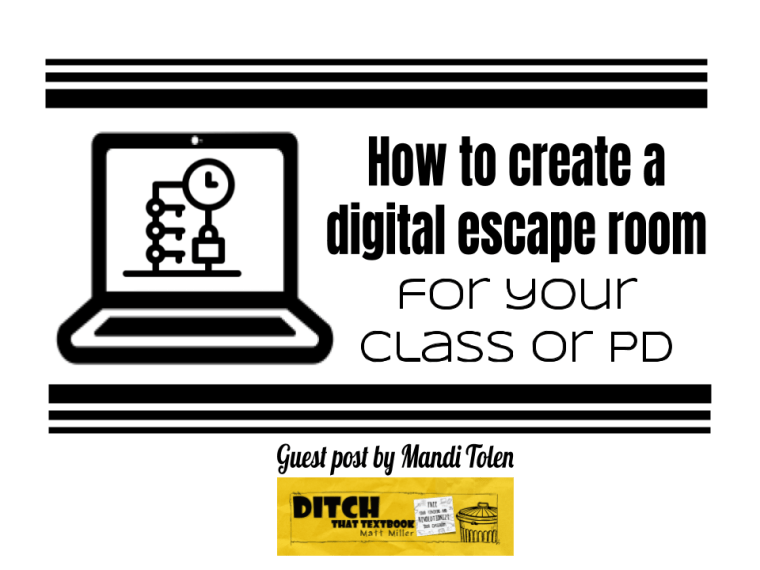 How to create a digital escape room or digital breakout for your class or pd title image.