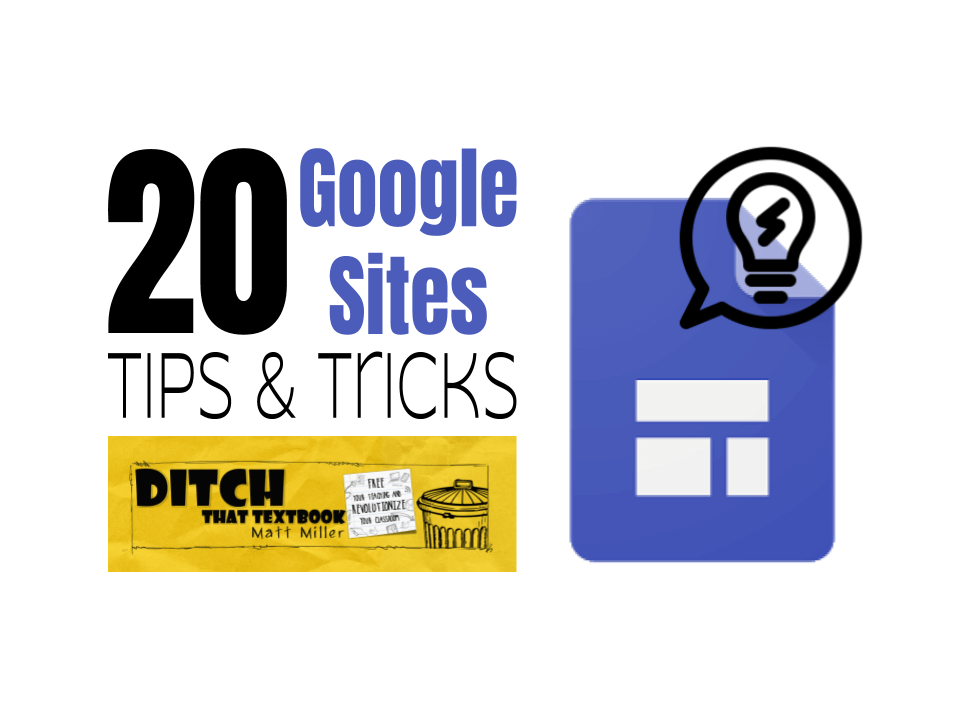 20 Google Sites tips and tricks (