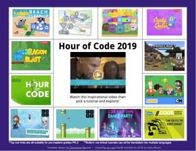 Hour of Code Choice Board