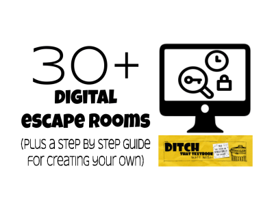 30+ digital escape rooms (plus a step by step guide for creating your own)