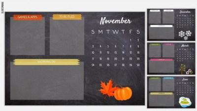 Customizable Desktop Organizer Wallpapers or Warm-up Slides!