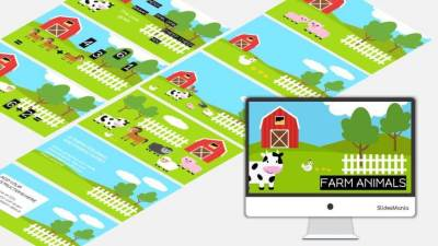 Free Farm Animals Shapes for Google Slides or PowerPoint