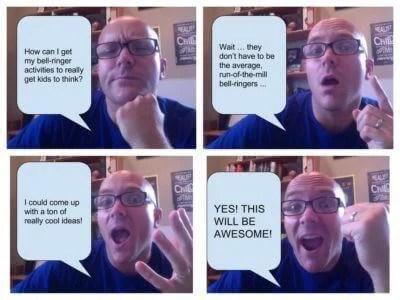 Photo comic strip bellringer example
