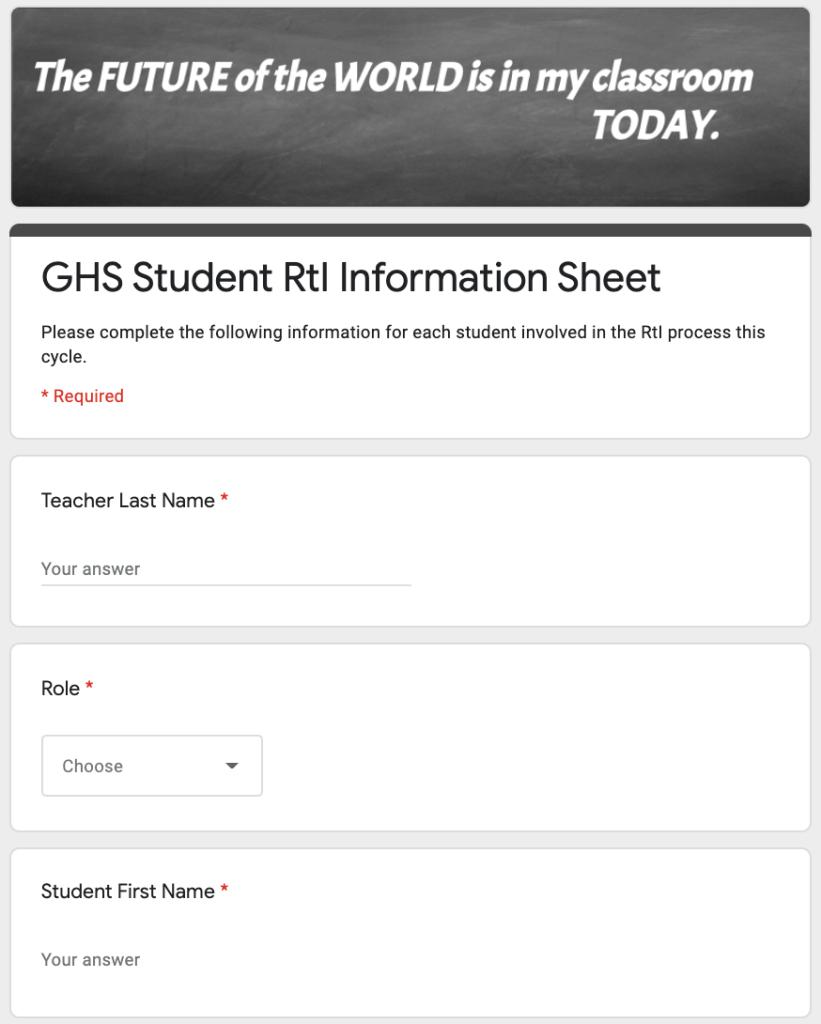 Sample Google Form