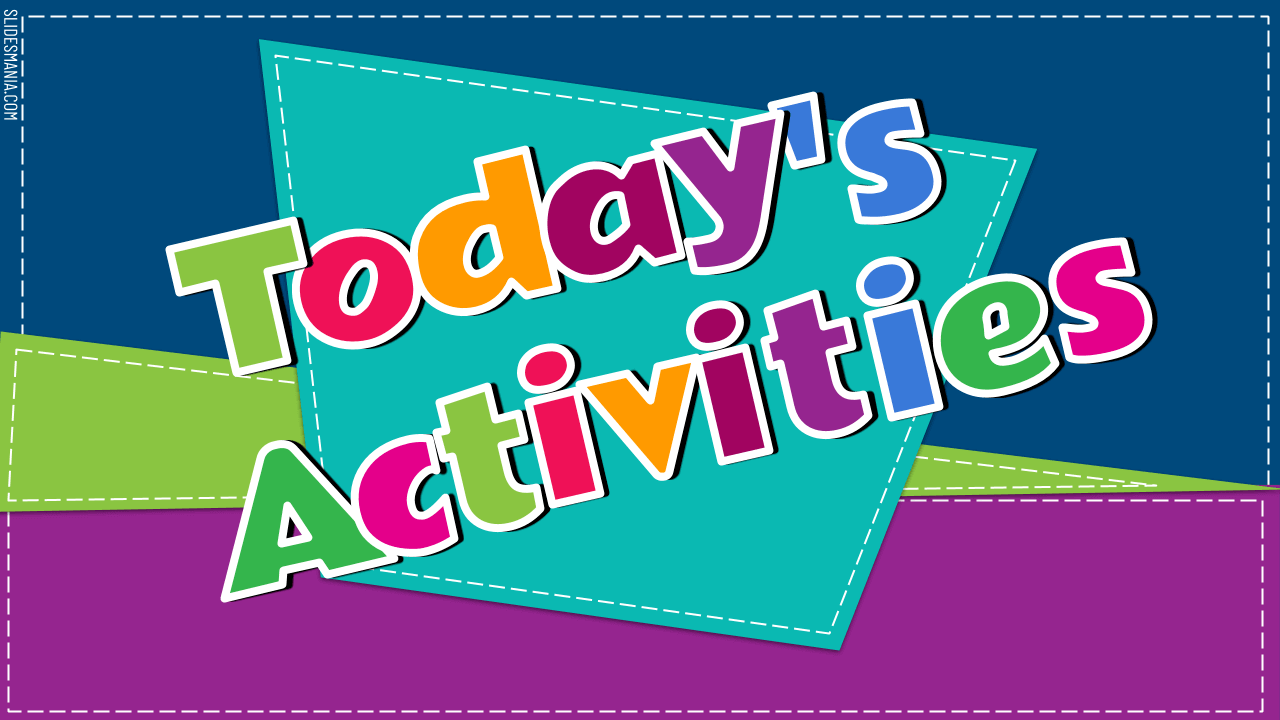 Daily Activities or Choice Board Template · SlidesMania