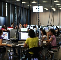 Armenia -- Students at the Tumo Center for Creative Technologies, Yerevan, 14Aug2012