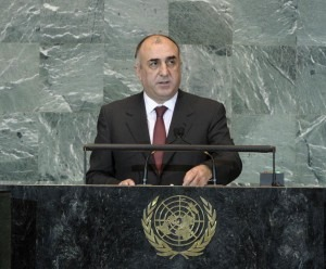 USA -- Azerbaijani Minister of Foreign Affairs Elmar Mammadyarov addresses UN General Assembly, New York, 29Sep2012