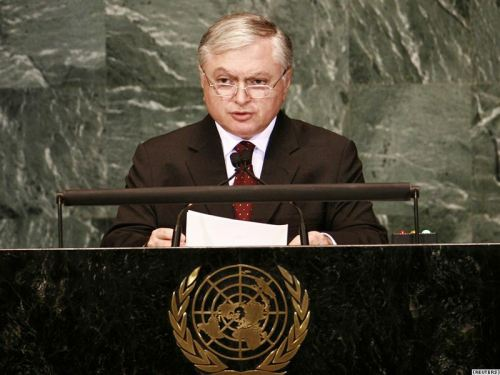 USA -- Armenian Foreign Minister Edward Nalbandian addresses UN General Assembly, New York, 01Oct2012