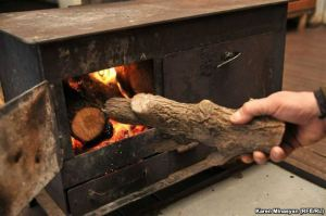 Armenia -- High prices for natural gas forces villagers to burn wood for heating, December 2012