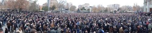 Armenia -- Raffi Hovhannisian's post-election rally, Yerevan, 22Feb2013 | via Tzitzernak