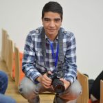 Armenia -- A photographer never has photos, so I decided to take a photo of this photographer at Barcamp Vanadzor, 06Nov2016