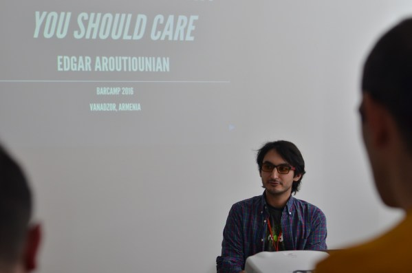 Armenia --Edgar Aroutiounian speaks about Open Source at Barcamp Vanadzor, 06Nov2016