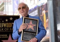 French-Armenian singer Charles Aznavour gets a Hollywood star