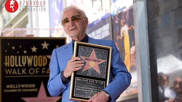 Charles Aznavour Gets a Holywood Star