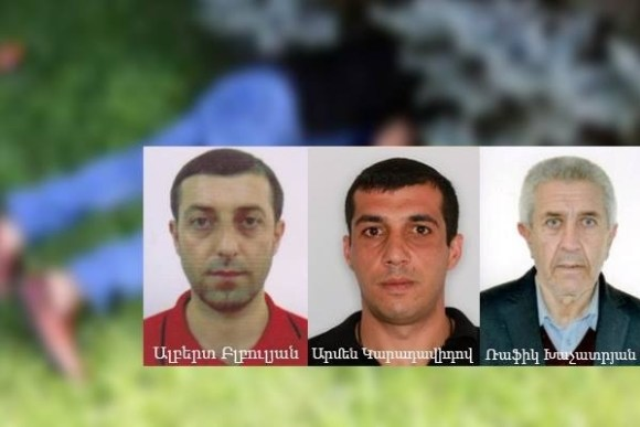 Suspects of Vernissage Shooting Albert Blbulyan, Armen Karadavidov, Rafik Khachatryan