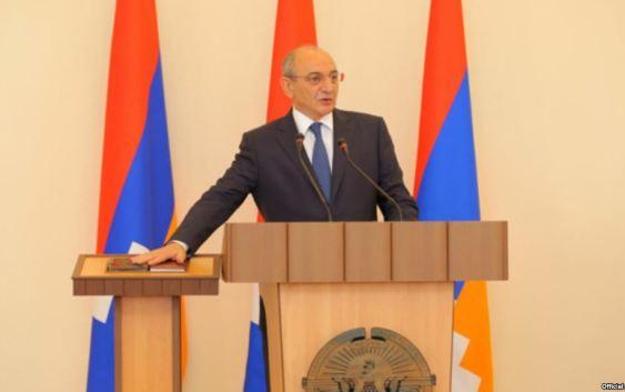 Nagorno Karabakh - President Bako Sahakian is sworn in for another term, 7Sep2017.