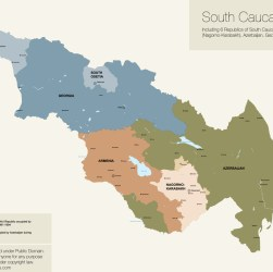 Map of South Caucasus