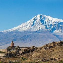 Armenia -- View of Khor Virap, an Armenian monastery and one of the most visited pilgrimage sites in Armenia, Photo by Diego Delso