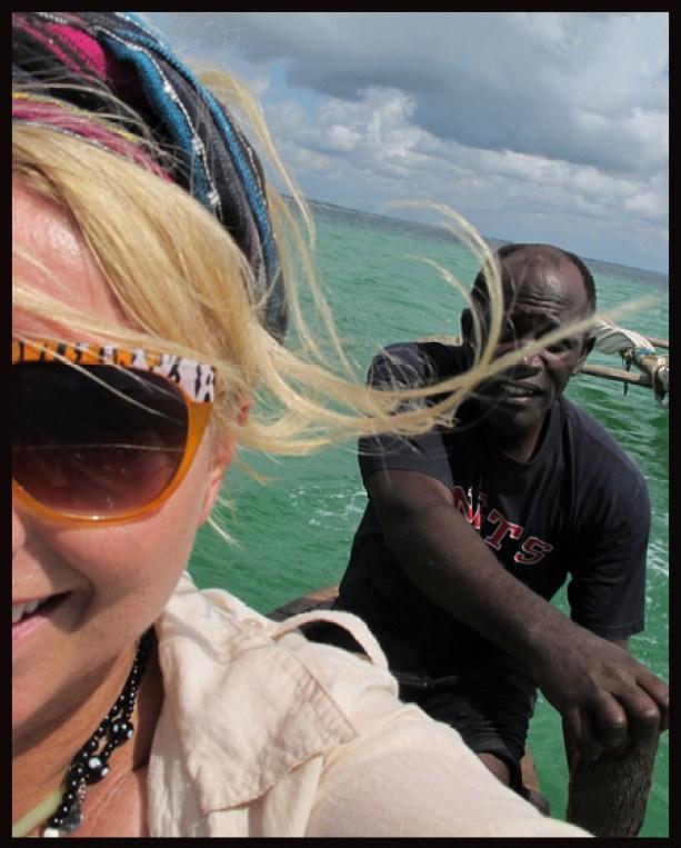 Ut og fisker med den lokale fiskermannen på Zanzibar