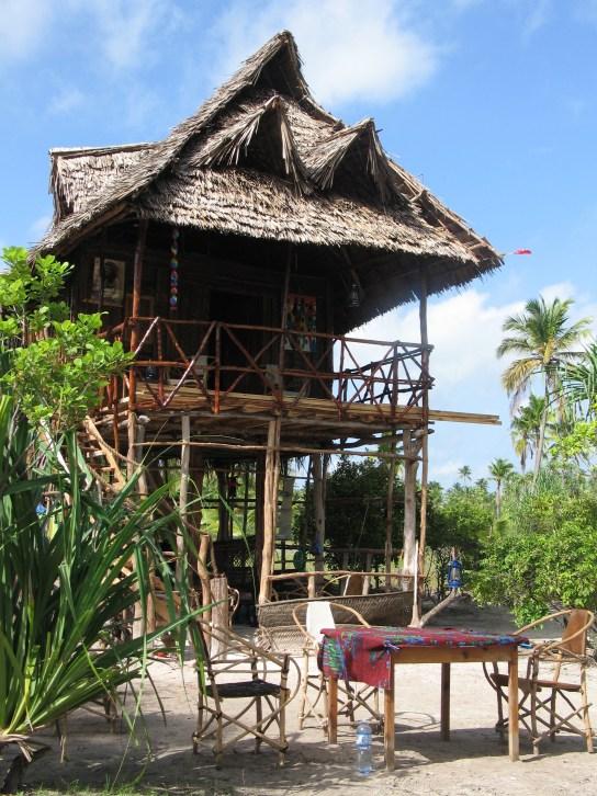Her er huset mitt på Zanzibar under oppbygging