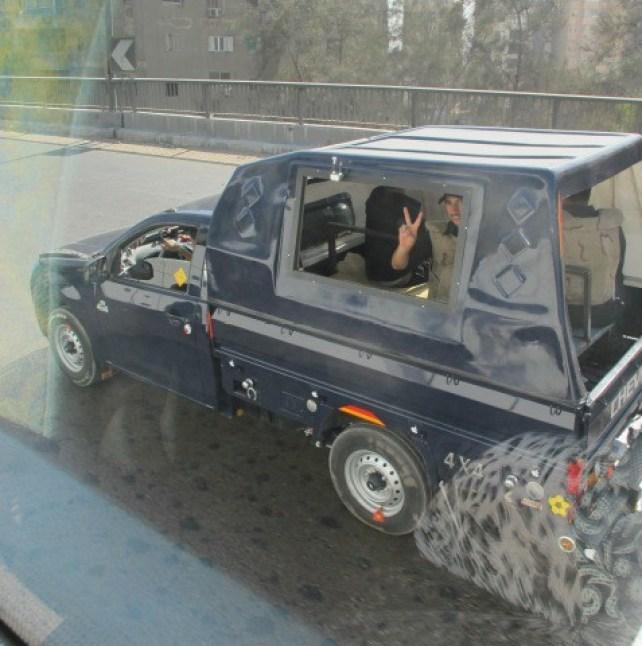 Kairo politi i bil