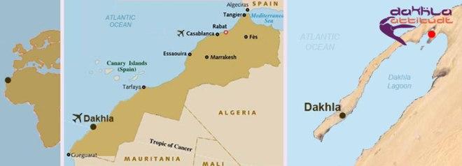 Marokko Dakhla kart
