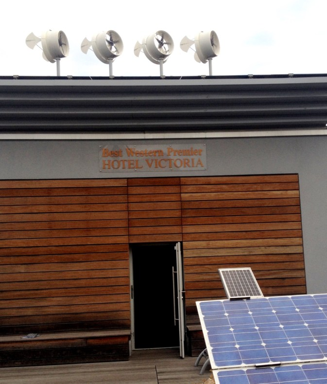 vindmøller og solcellep