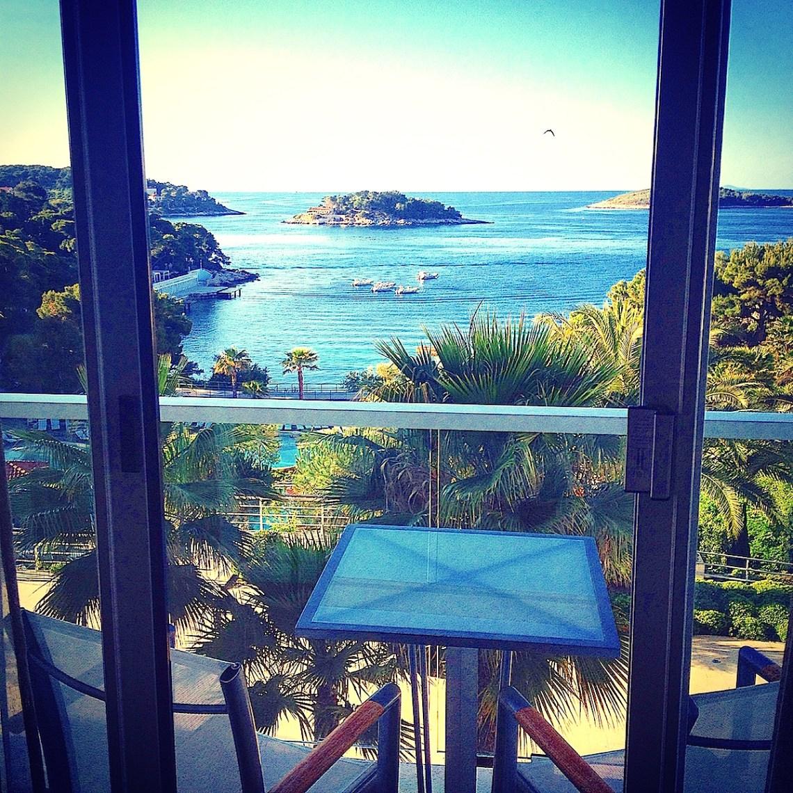 utsikt fra hotell