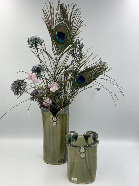 Vase med blomster på (stor)