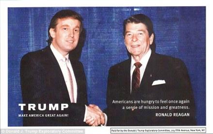 Reagan en trump