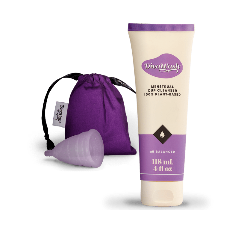 DivaWash Cleanser- pouch- menstrual cup
