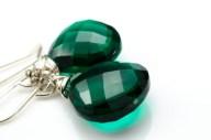 Chrome Green Silver Earrings