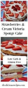 Low carb victoria sponge