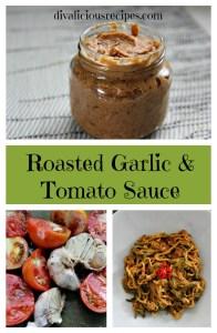Roasted garlic & tomato sauce