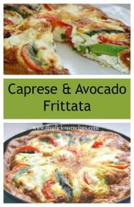 Caprese and avocado frittata collage