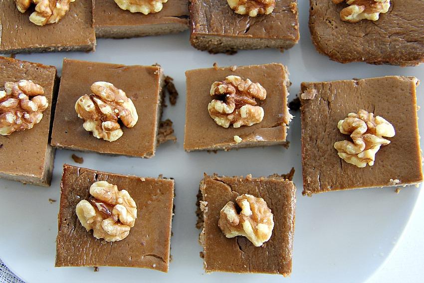 walnut coffee brownie
