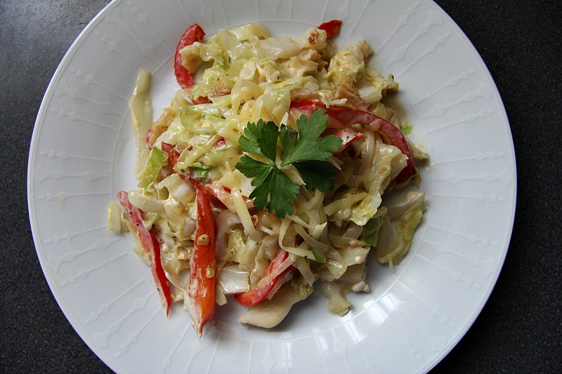 creamy-fried-cabbage