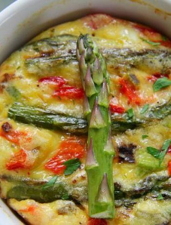 asparagus pepper frittata