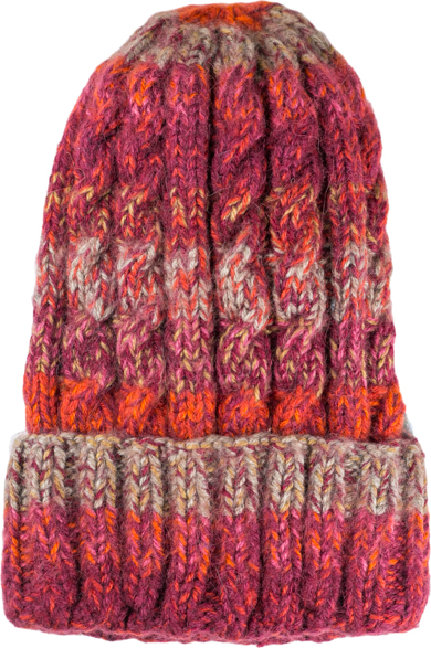 Funky cable style Burgundy Alpaca Blend Unisex, slouch or beanie fit, winter Hats for the whole family