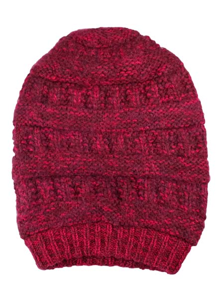 Pachamama Hat, Burgundy, Alpaca Blend, winter Hats for the whole family