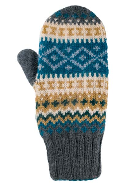 Sierra Mittens, Aqua, Alpaca Blend, winter Mittens for the whole family