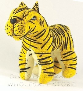 Tiger 100% Natural Wool Stuffed Toys Woolly Amigos