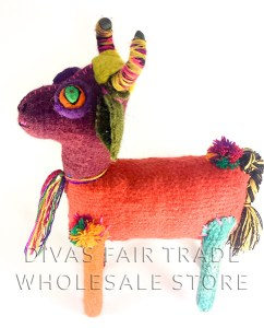 Bull 100% Natural Wool Stuffed Toys Woolly Amigos