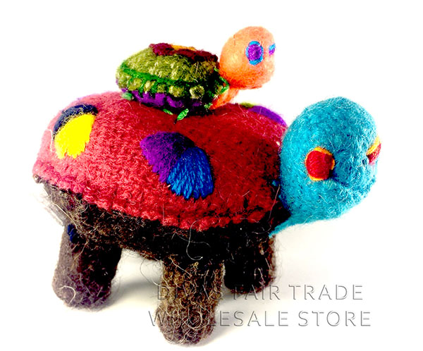 Turtle 100% Natural Wool Stuffed Toys Woolly Amigos